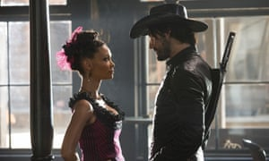 'Overcomes all the reservations of my 10-year-old self' … Thandie Newton and Rodrigo Santoro in Westworld.