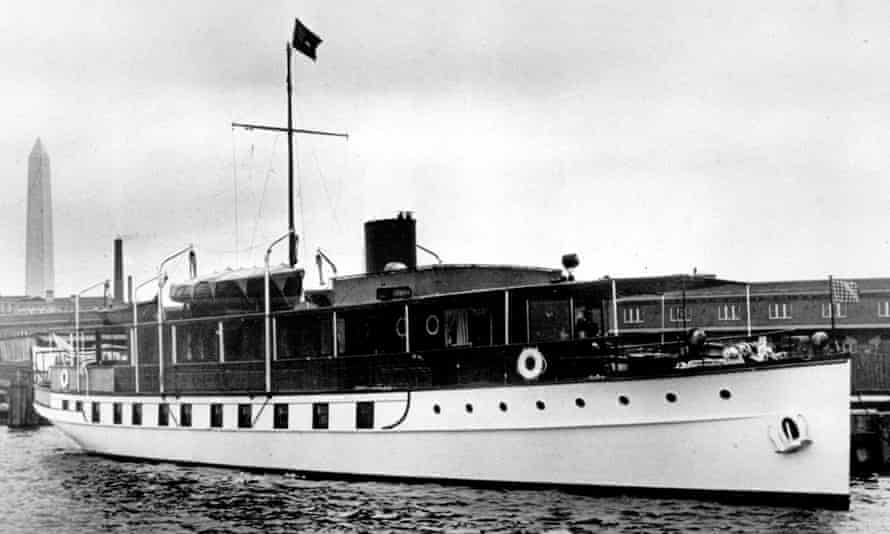 The USS Sequoia in a 1932 photograph taken in Washington DC.