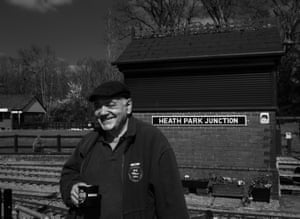 Terry Edwards at model railway in Heath Park