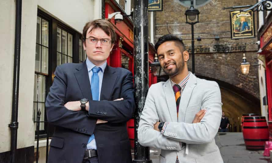 Peas in a pod... Eric Monkman (left) and Bobby Seagull.