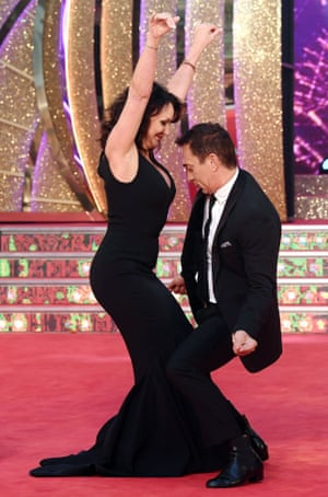 Shirley Ballas with Bruno Tonioli on Strictly in 2017