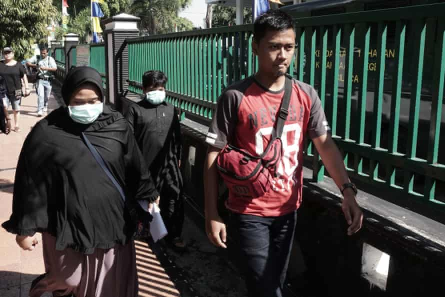 Relatives of Zulfiqar Ali arrive in Cilacap for a meeting with prosecutors and lawyers this week.