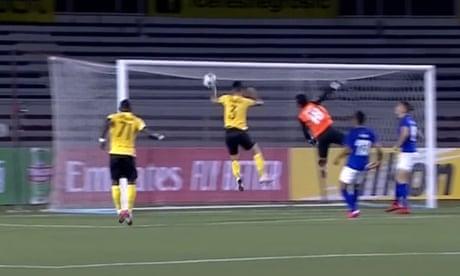Hand of God: Maradona-style handball goal goes unnoticed in AFC Cup – video