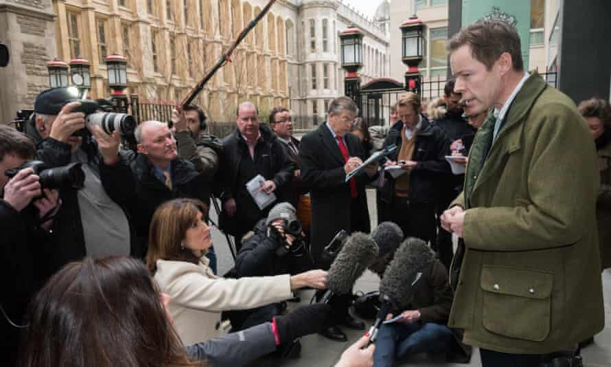 Lord Lucan's son George Bingham at Royal Courts of Justice, London.
