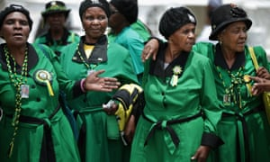 Members of the ANC women's league, said to support Zuma.