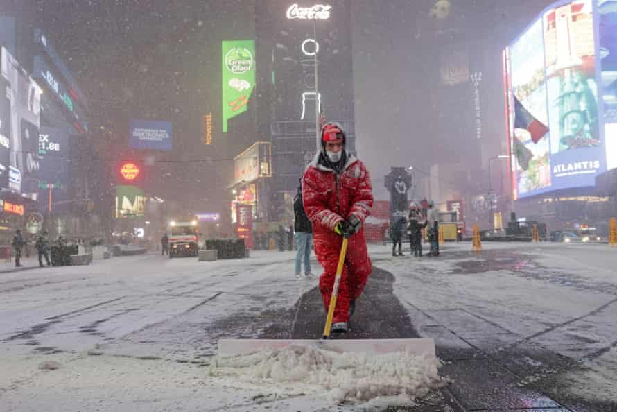Heavy snow in New York and other parts of the east coast could delay vaccine deliveries.