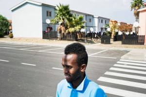Migrants rescued by Red Cross durring crossing between Libya and Italy. Mineo, Sicily. ITALY Kasim 25 years old from Somalia.