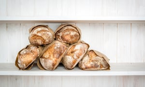 Various traditionally made sourdough breads
