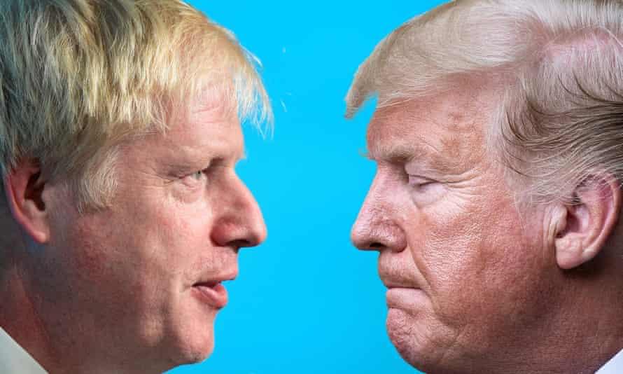 Boris Johnson and Donald Trump composite. 'The similarities are indeed striking.'