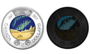 The new $2 coin marks the 150th anniversary of Canada's confederation.