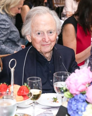 Tom Wolfe attends a library lunch in New York in April 2016