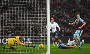 Joe Hart saves from Érik Lamela as Burnley threatened to derail Spurs' pursuit of the top two.