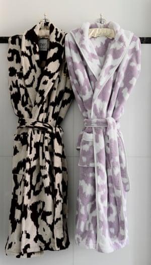 Diane von Furstenberg robes at Claridge's.