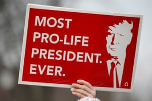 A participant's sign at the March for Life.