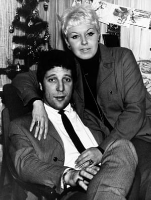 Tom and Linda pictured spending Christmas in Wales after his hit Green Green Grass of Home reached No 1 in the UK charts in 1966