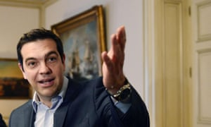 Alexis Tsipras in his Athens office, 28 May 2015