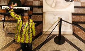 Ghetto Priest performs The Slave's Lament in the Great Hall of the Scottish National Portrait Gallery.