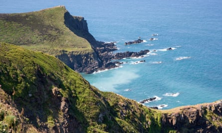 View from Vicarage cliff near Morwenstow on the north Cornish coast.