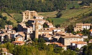 The medieval hilltop town of Sant'Agata Feltria.