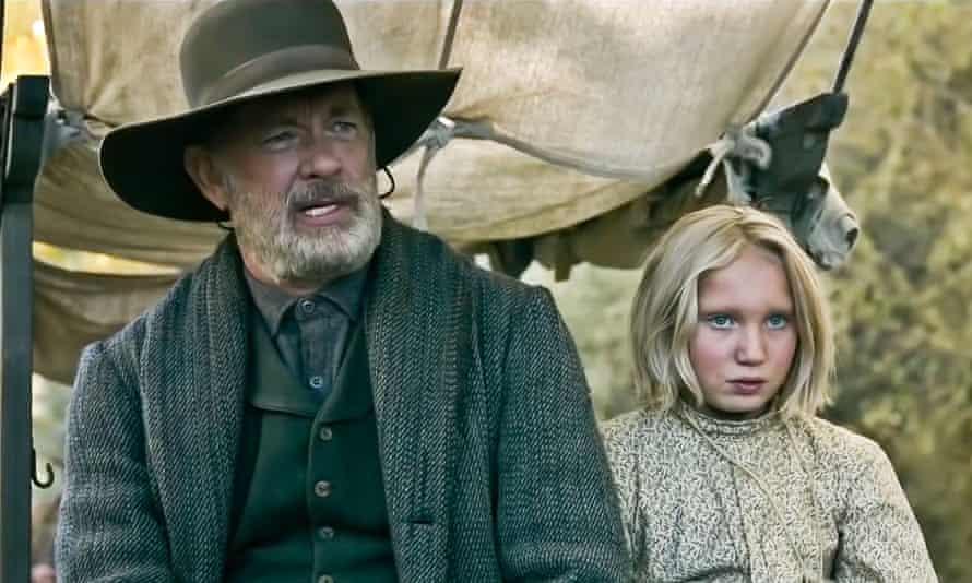 Tom Hanks and Helena Zengel in News of the World.