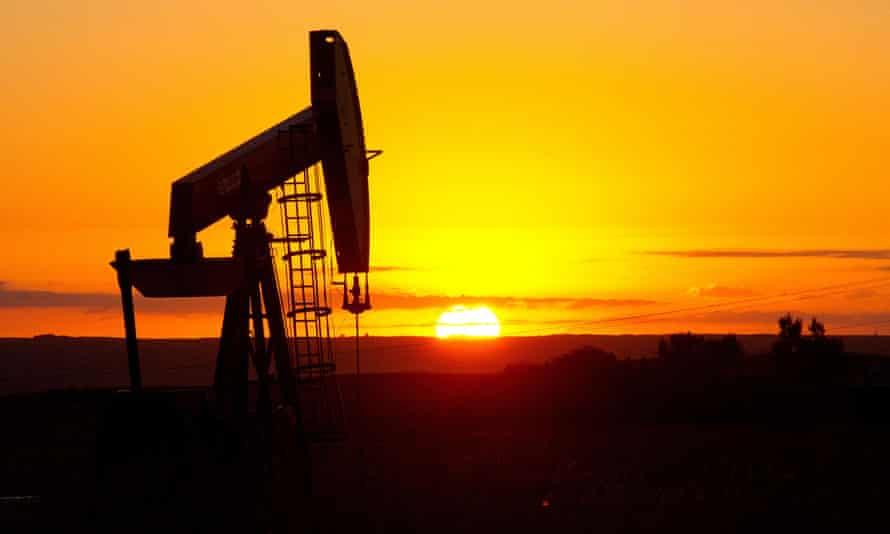 Oil well near Tioga, North Dakota.