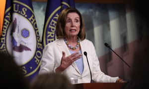 Nancy Pelosi answers questions during a press conference on Wednesday.