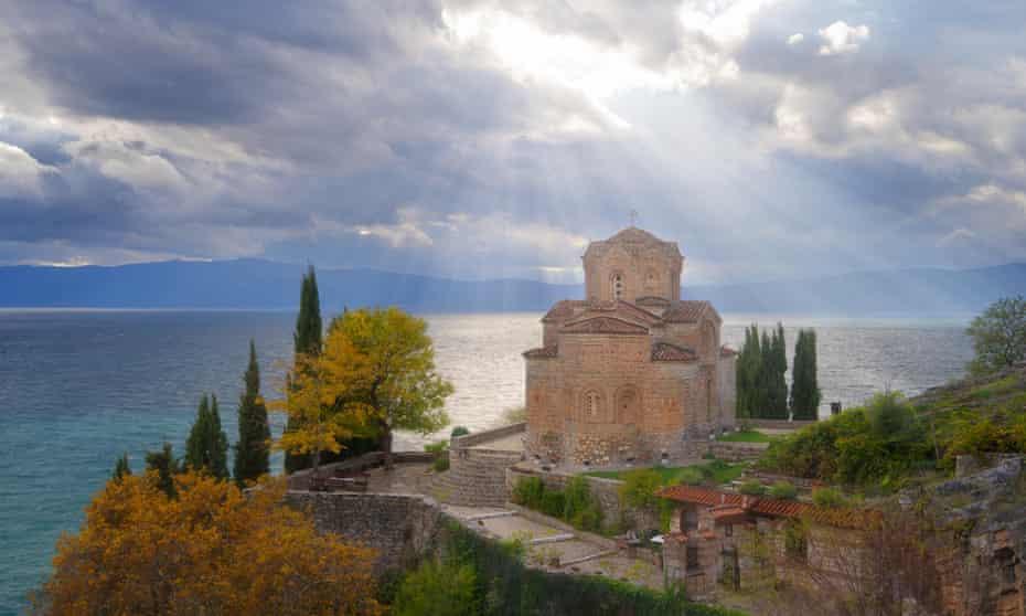 The Church of Saint Jovan Kaneo, Lake Ohrid.