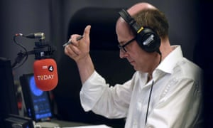 Nick Robinson on his first day presenting the Today programme on Radio 4.