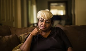 Ruby Dee Rudolph, 66, noticed her septic tank was slowly sinking unevenly into the ground.