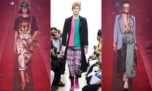 Accidentism in pat at JW Anderson (centre) and Gucci SS17.