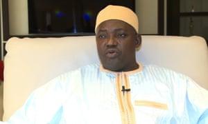 Gambia's new president Adama Barrow.