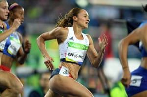 Jessica Ennis-Hill competes in the 200m and leads the field at the end of day one.
