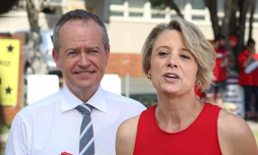 Kristina Kenneally with opposition leader Bill Shorten campaigning in the Bennelong byelection last month.