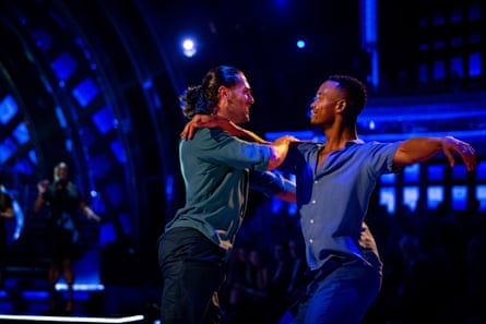 Graziano Di Prima (left) and Johannes Radebe during Strictly's first same-sex dance in November