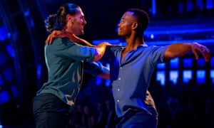 Johannes Radebe and Graziano Di Prima (left) on Strictly Come Dancing: The Results. Sunday November 3, 2019.