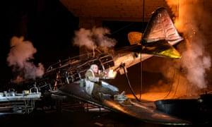 One fighter plane, crashed … Das Rheingold.