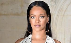Rihanna pictured at Paris Fashion Week in September