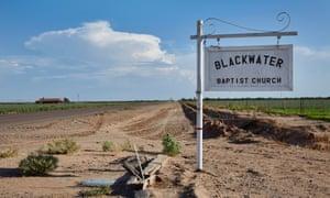 Blackwater Baptist Church sign, Blackwater, Arizona