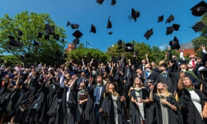 University of Sheffield students celebrate their graduation.