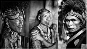 Three Konyak tribesmen