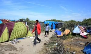 Migrants at 'Jungle 2' .