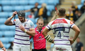 Will Spencer sees red after his illegal tackle on Tommy Taylor.
