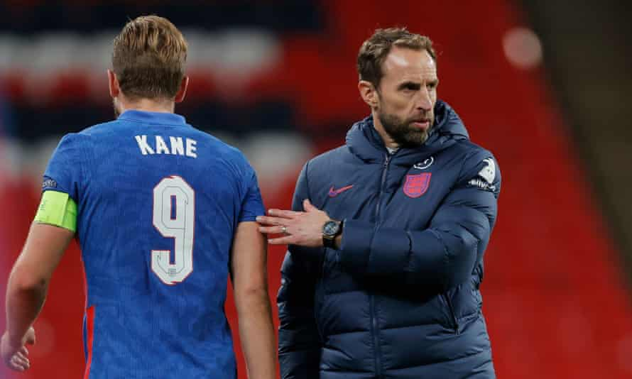 Gareth Southgate (right) will be wary over the fitness of his key players as the Premier League season comes to a close next summer.