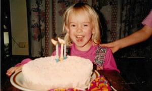 Kasey Hazelman as a young girl
