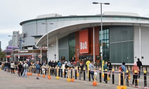 DIYers at a B&Q store in Greenwich, south London. Photograph: Glyn Kirk/AFP via Getty Images