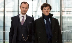'We were going to call one episode Backlash' … Gatiss with Benedict Cumberbatch in Sherlock.