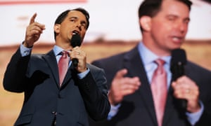 Scott Walker, the governor of Wisconsin, delivers a speech.