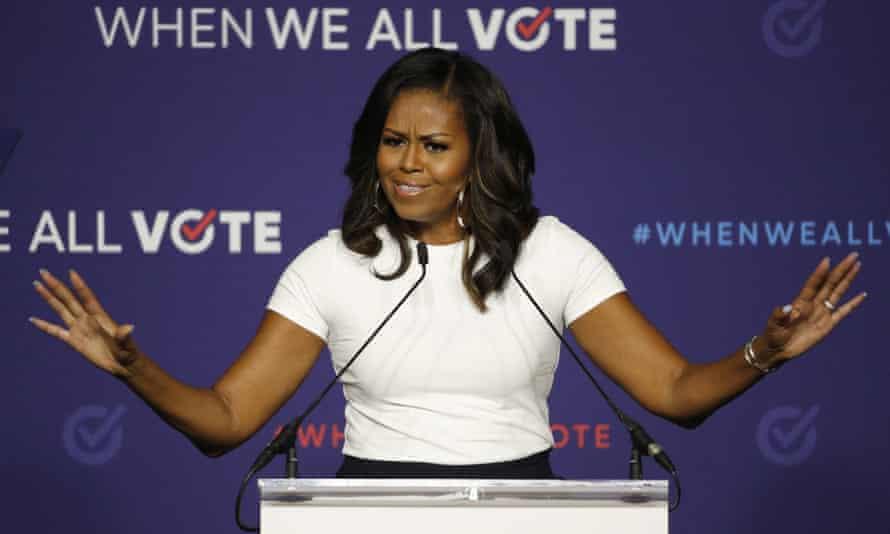Michelle Obama in Las Vegas on 23 September 2018.