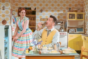 'Sparkling': Katherine Parkinson and Richard Harrington in Home, I'm Darling.