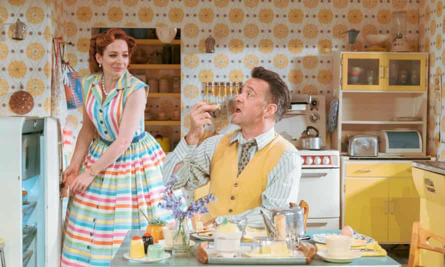Richard Harrington as Johnny and Katherine Parkinson as Judy in Home, I'm Darling.